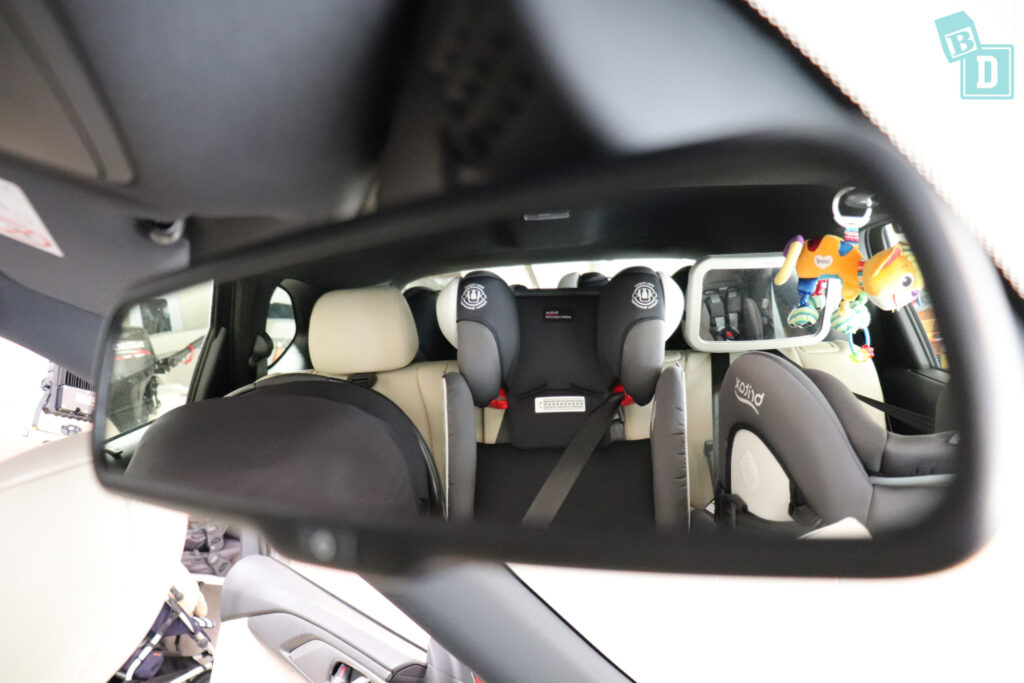 MAZDA CX-9 Touring 2020 rear visibility with child seats installed