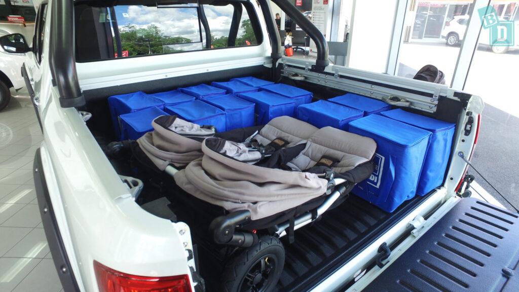 2020 Nissan Navara N-Trek Warrior with prams in tray