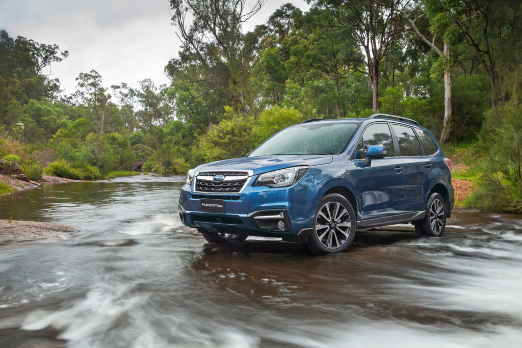 The fourth-generation Subaru Forester will fit three child seats across the middle row