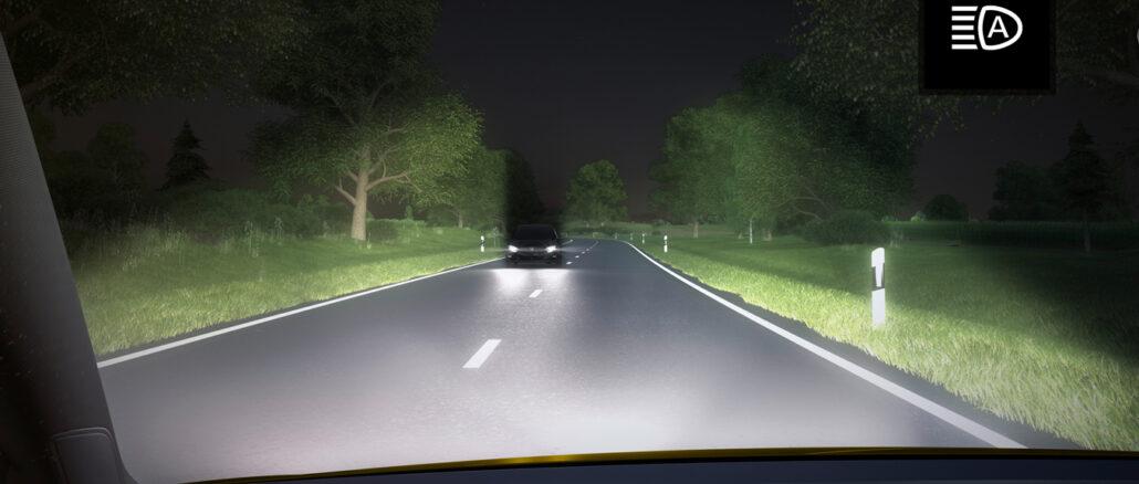 Auto dimming headlights