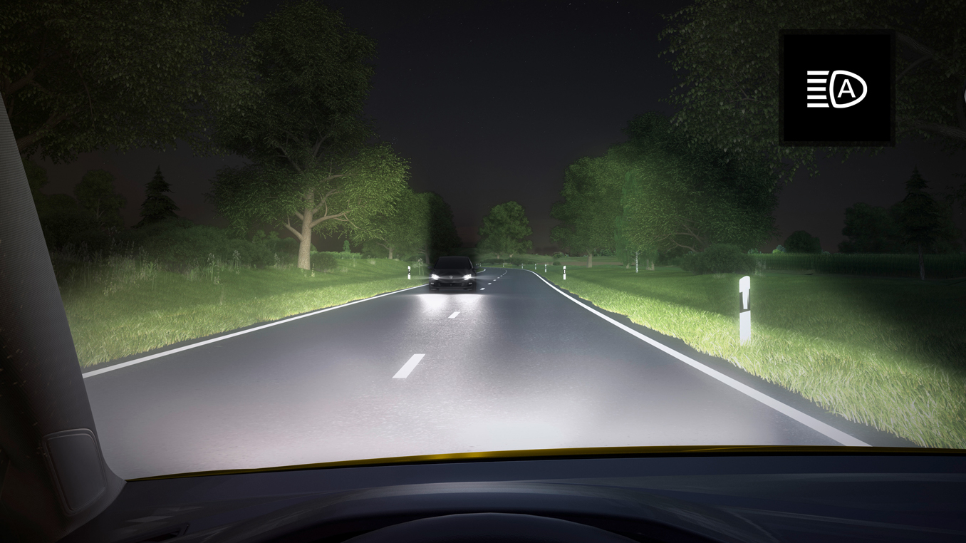 Auto dimming headlights