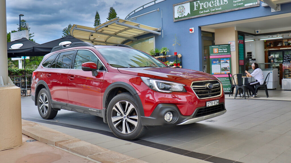 The Subaru Outback will fit three child seats across the middle row