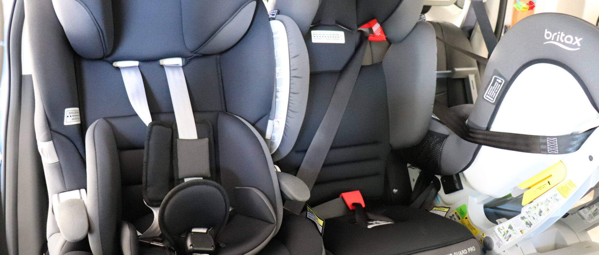 The Nissan X-Trail will fit three child seats across the middle row