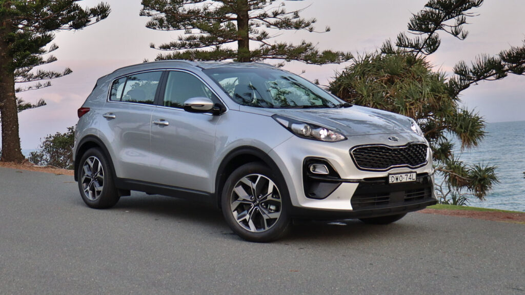 The Kia Sportage will fit three child seats across the middle row