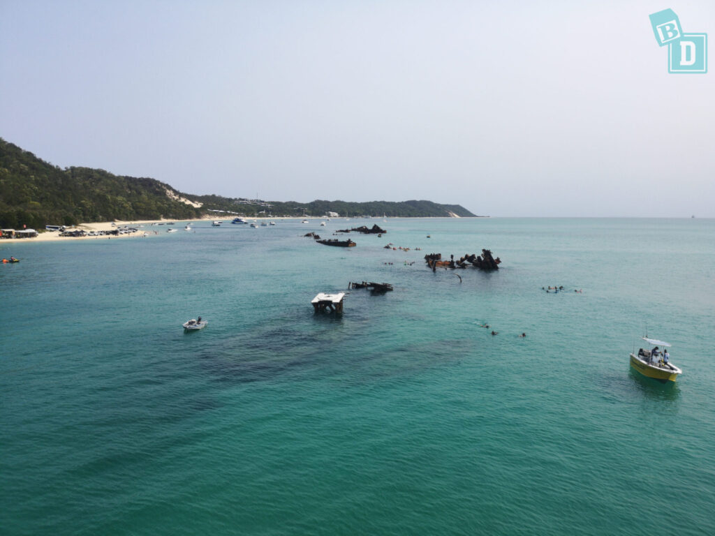 Tangalooma wrecks on Moreton Island