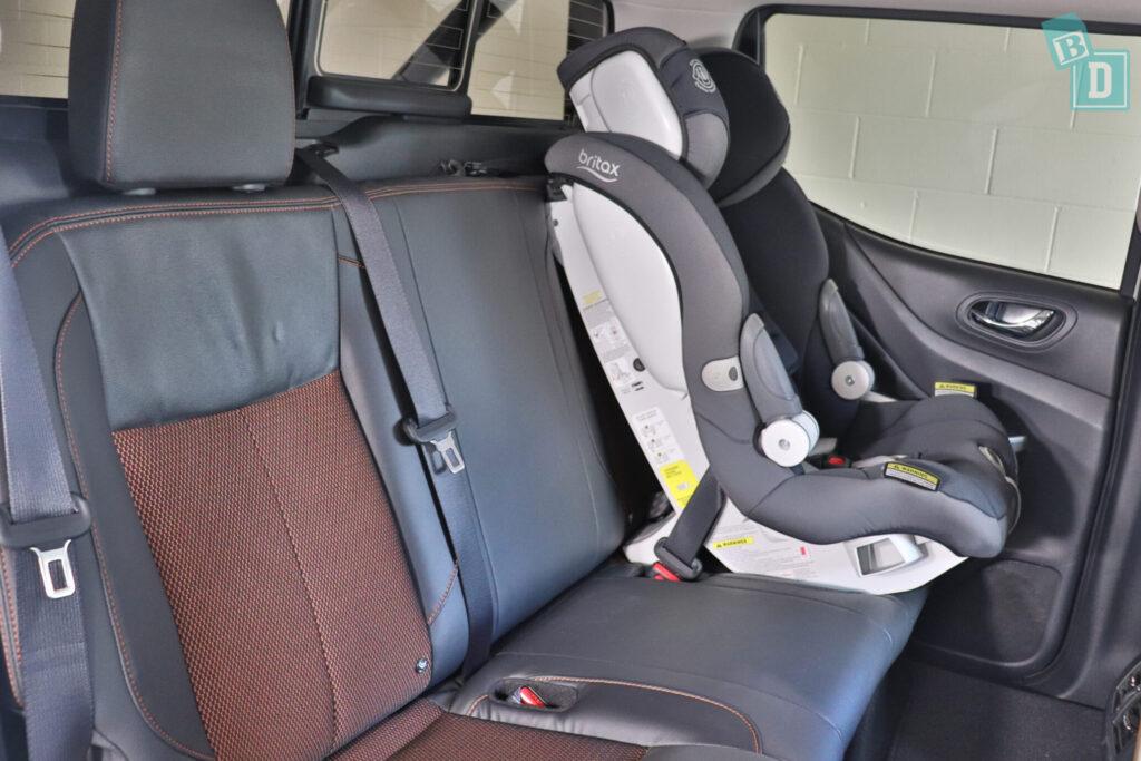 2020 Nissan Navara N-Trek Warrior with forward facing child seat installed