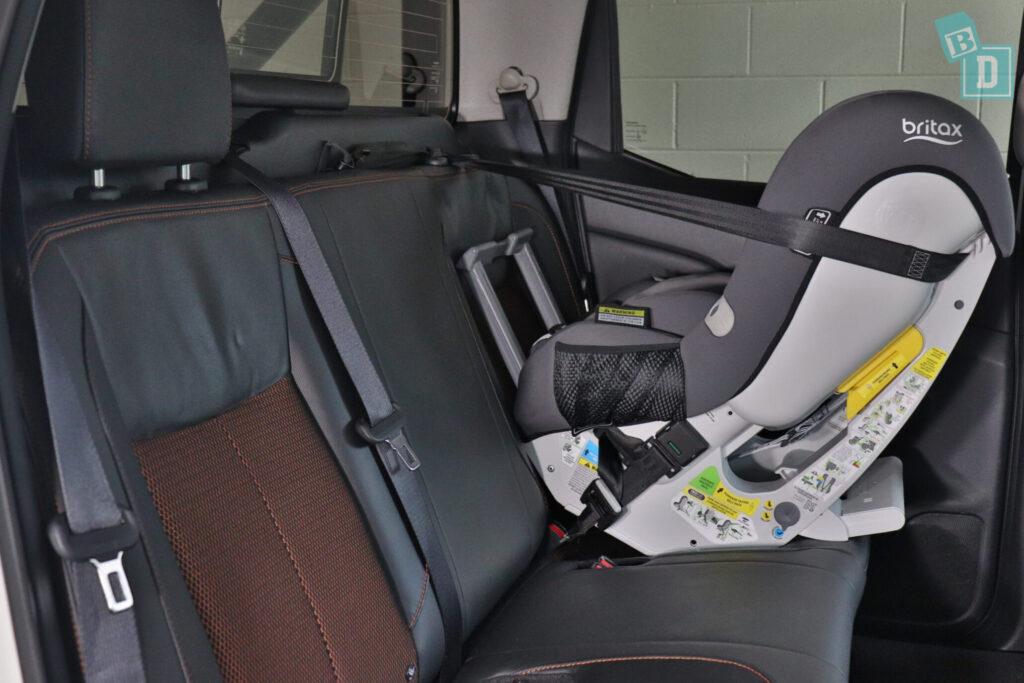 2020 Nissan Navara N-Trek Warrior with child seat installed