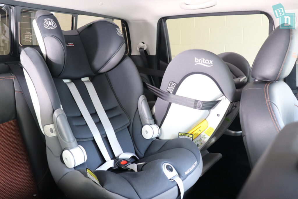 2020 Nissan Navara N-Trek Warrior with forward facing and rear facing child seats fitted