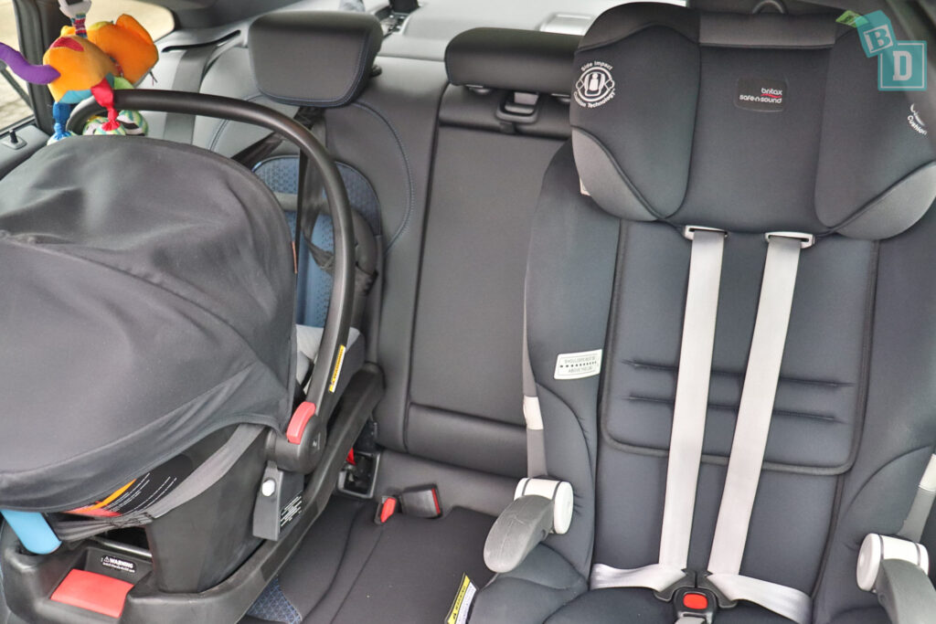 2020 BMW2 Series Gran Coupe 218i with two child seats installed