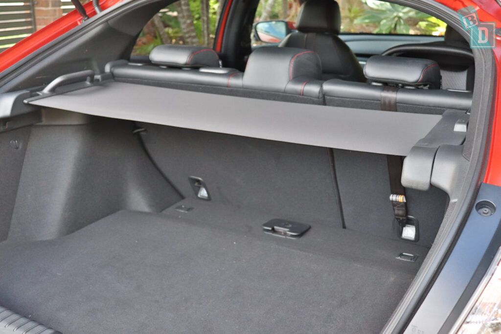 2020 Honda Civic RS Hatch legroom child seat top tether anchorages