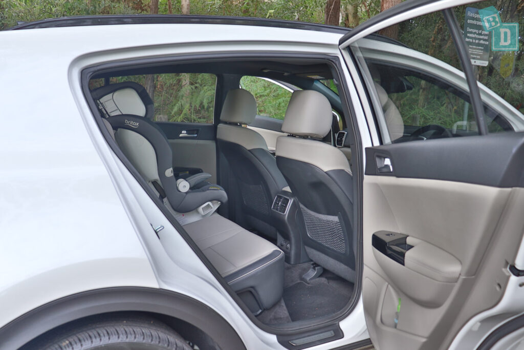 2020 Kia Sportage GT Line with child seat installed