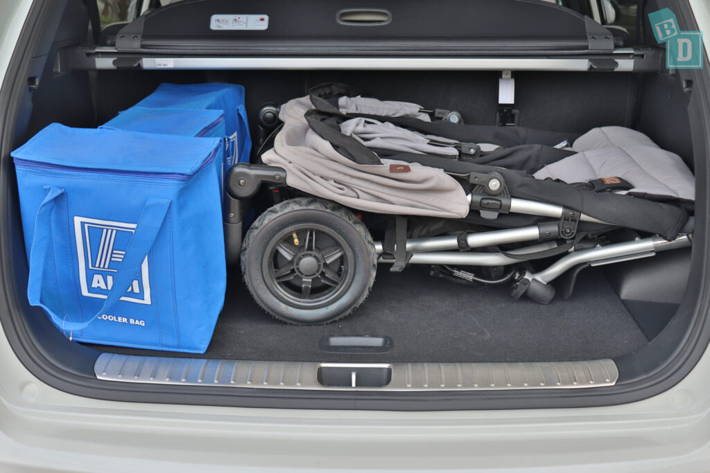 2020 Kia Sportage GT Line with twin stroller in the boot