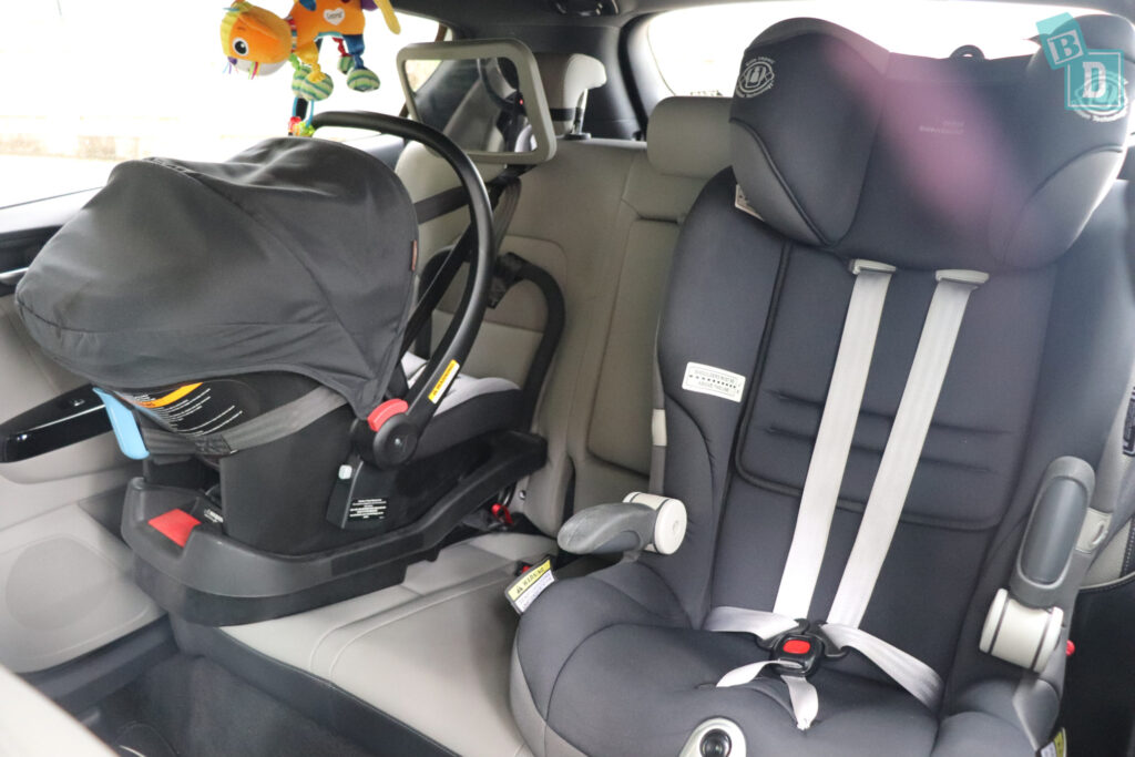 2020 Kia Sportage GT Line with baby seat and child seat installed