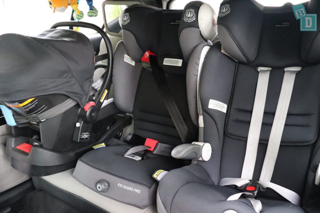 2020 Kia Sportage GT Line with three child seats installed