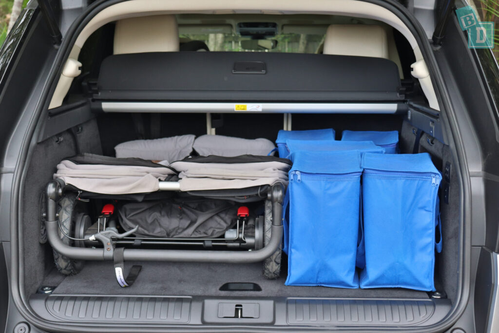 Range Rover Sport 2020 HSE R-Dynamic boot space with twin side by side stroller