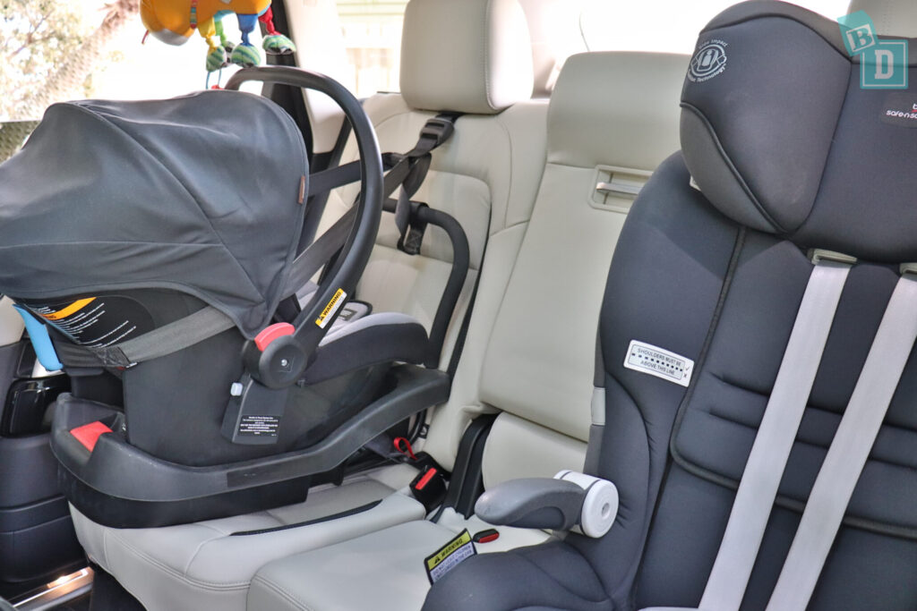 Range Rover Sport 2020 HSE R-Dynamic with infant capsule and child seat installed