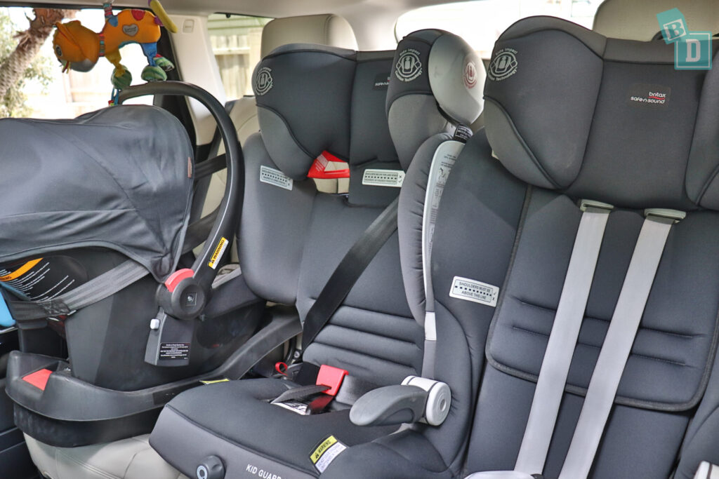 Range Rover Sport 2020 HSE R-Dynamic with three child seats installed