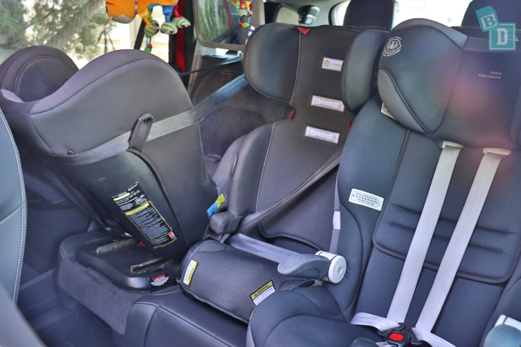 Skoda Kodiaq Sportline 2020 with three child seats installed