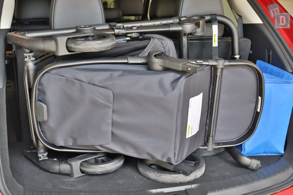 MAZDA CX-9 Touring 2020 with Silver Cross Coast pram in boot with seven seats in use