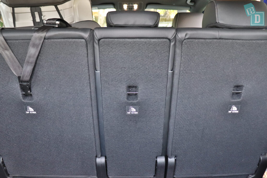 Mercedes-Benz GLB 2020 has three child seat top tether anchorages in the second row