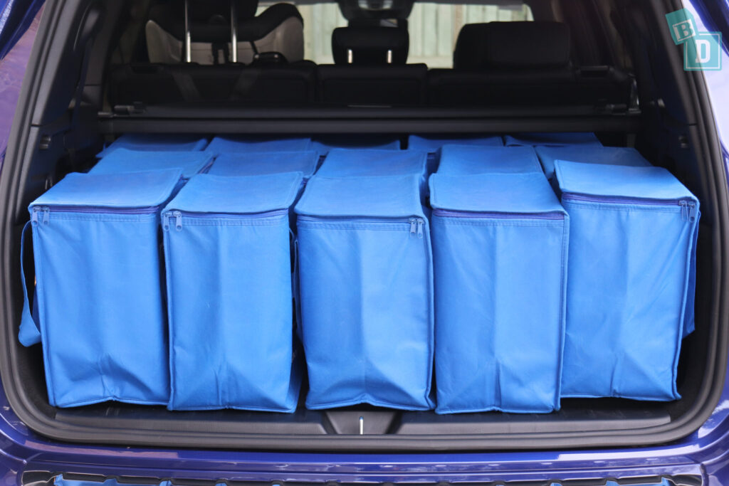 Mercedes-Benz GLB 2020 with shopping in boot