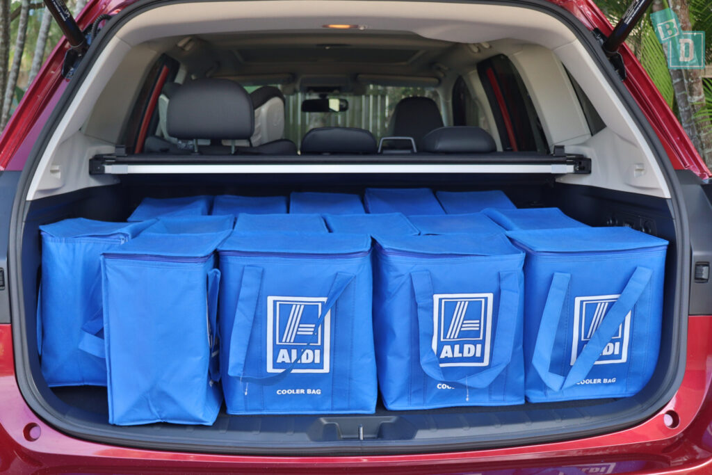 Subaru Forester Hybrid 2020 boot space with shopping