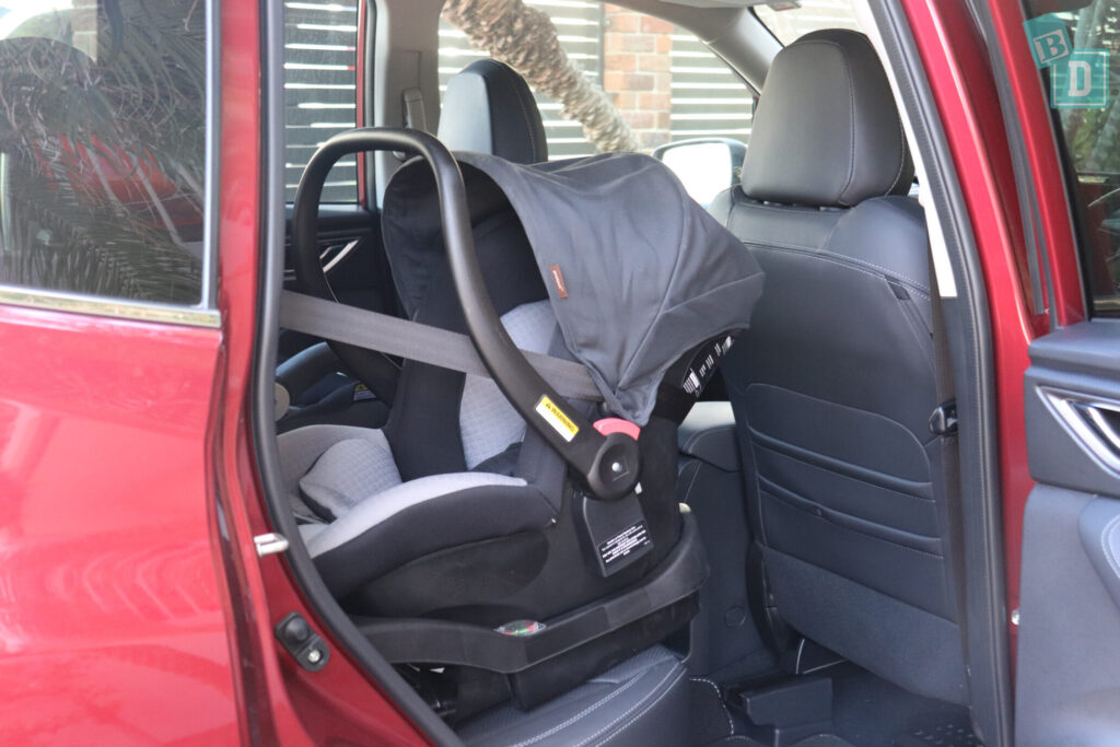 Subaru Forester Hybrid 2020 legroom with three child seats installed