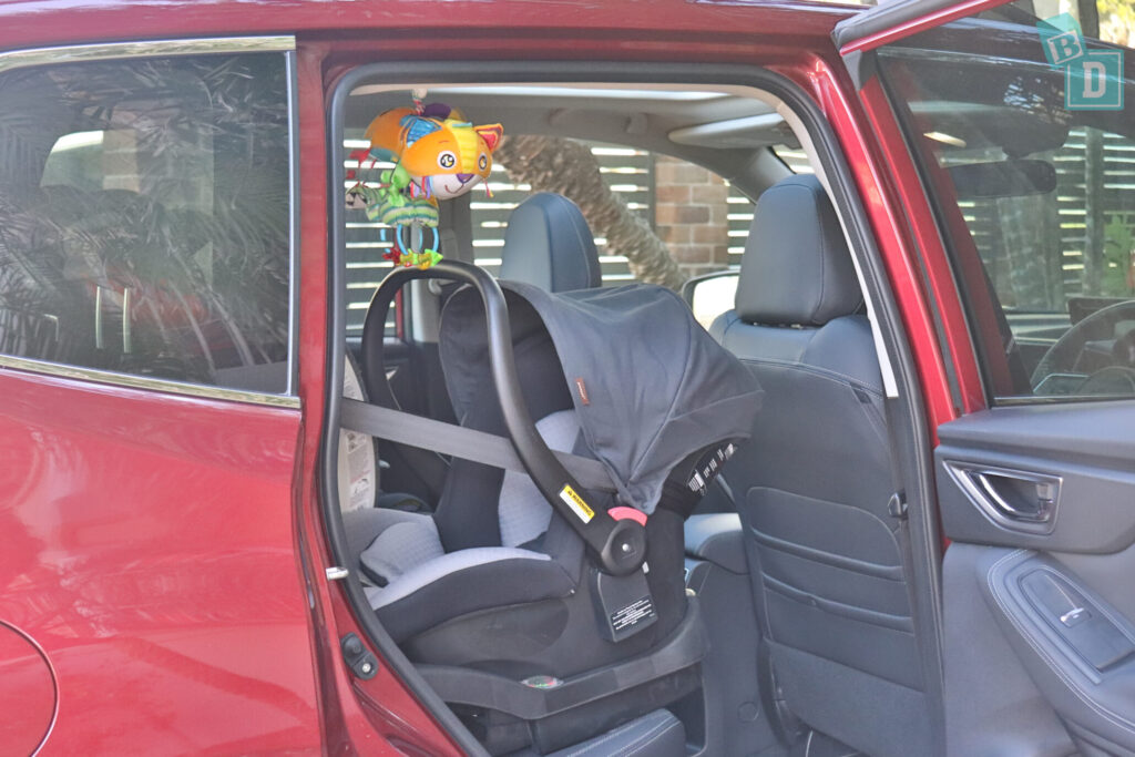 Subaru Forester Hybrid 2020 with infant capsule child seats installed