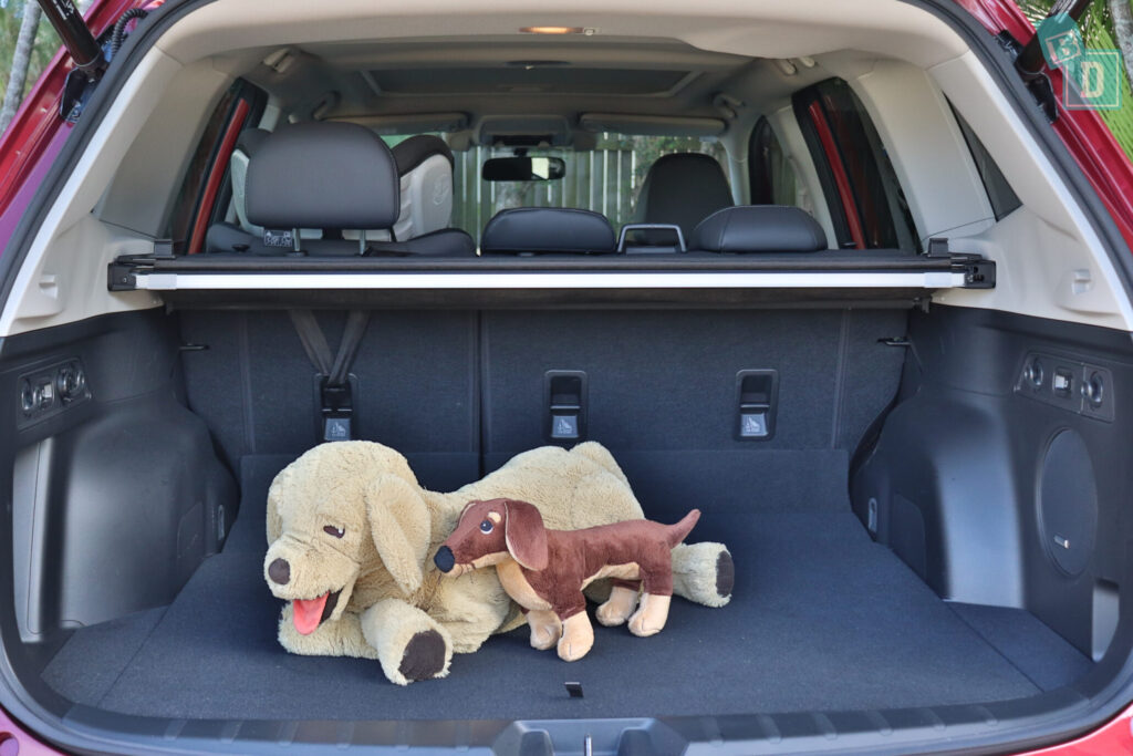 Subaru Forester Hybrid 2020 boot space with dogs