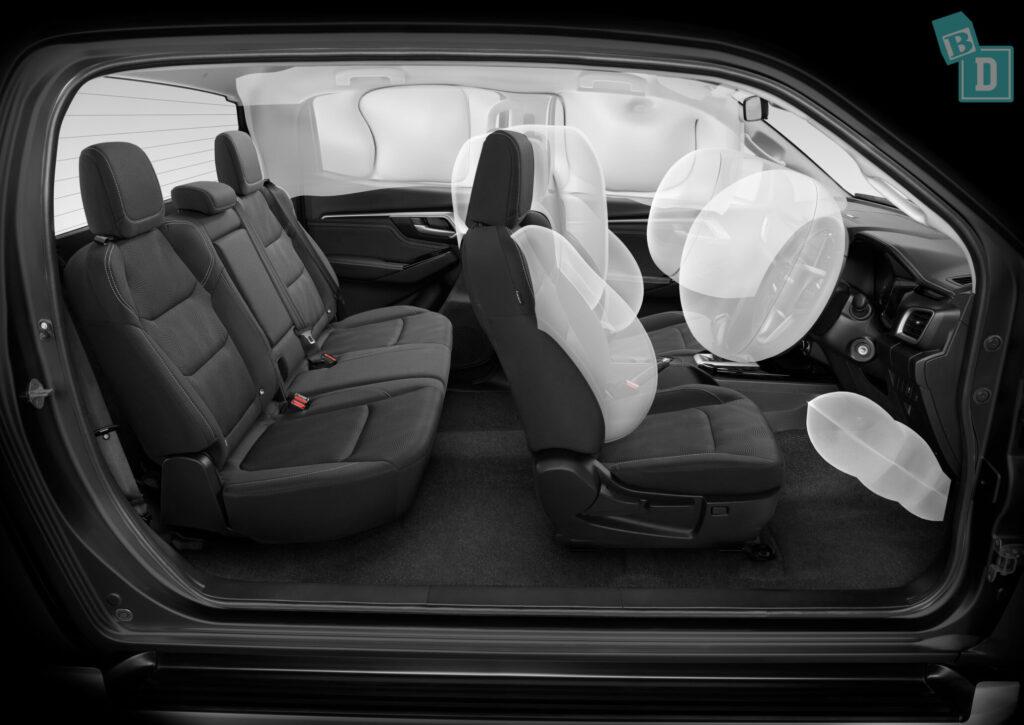 Isuzu D-Max 2021 has eight airbags