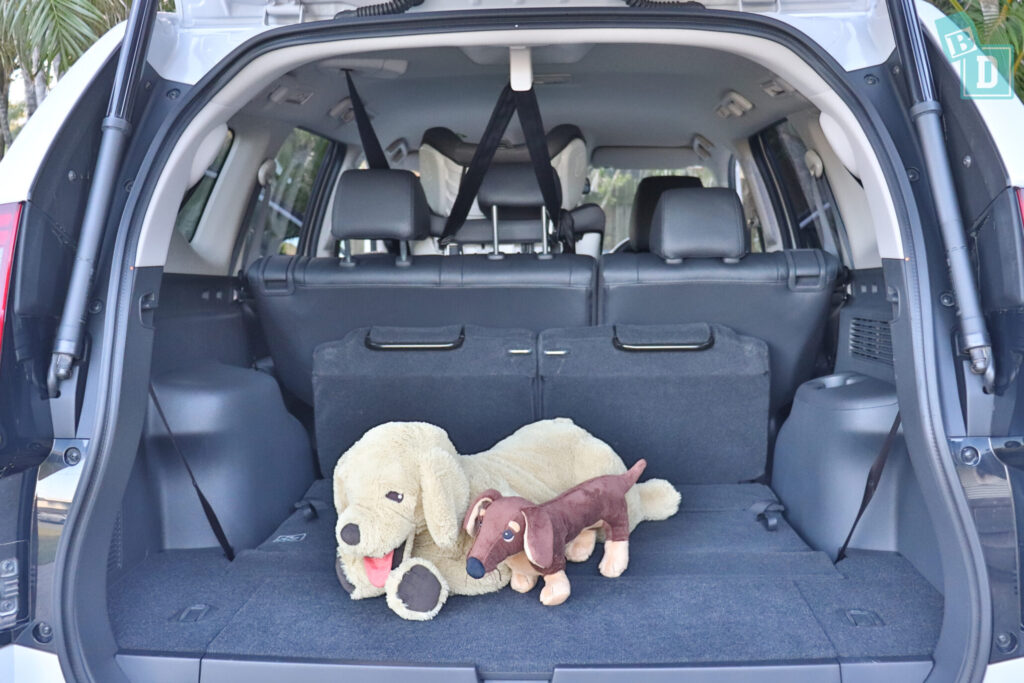 MITSUBISHI PAJERO SPORT boot space for dogs
