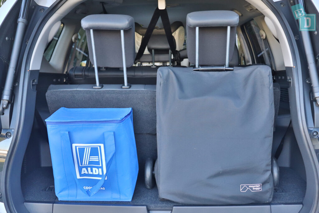 MITSUBISHI PAJERO SPORT boot space for compact stroller and shopping bags with all three rows in use