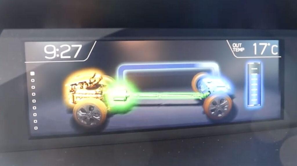 Subaru Forester Hybrid 2020 charging screen