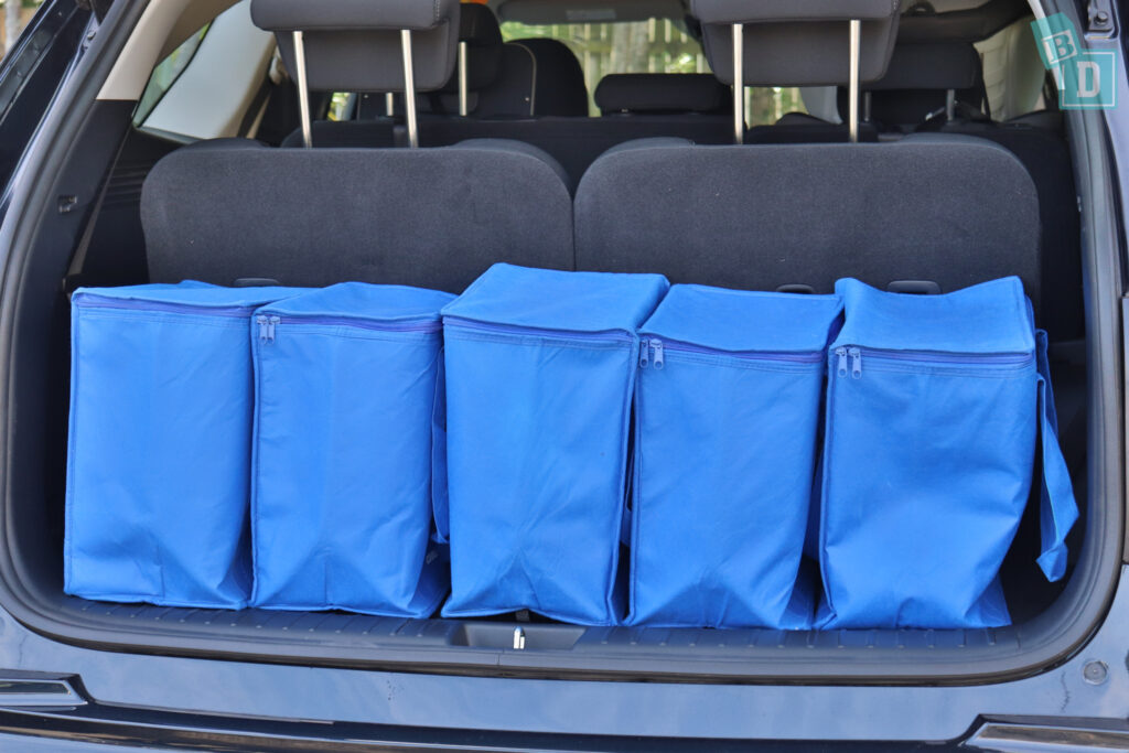 2021 Kia Sorento Sport and GT-Line boot space with all three seating rows in use