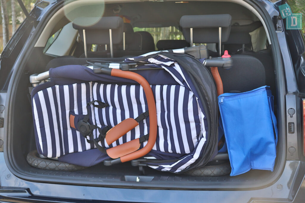 2021 Kia Sorento Sport and GT-Line boot space for single pram stroller with all three seating rows in use