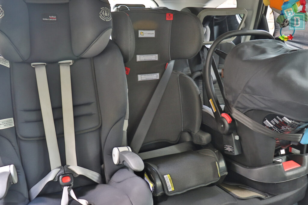2021 Kia Sorento Sport and GT-Line with three child seats installed in the second row