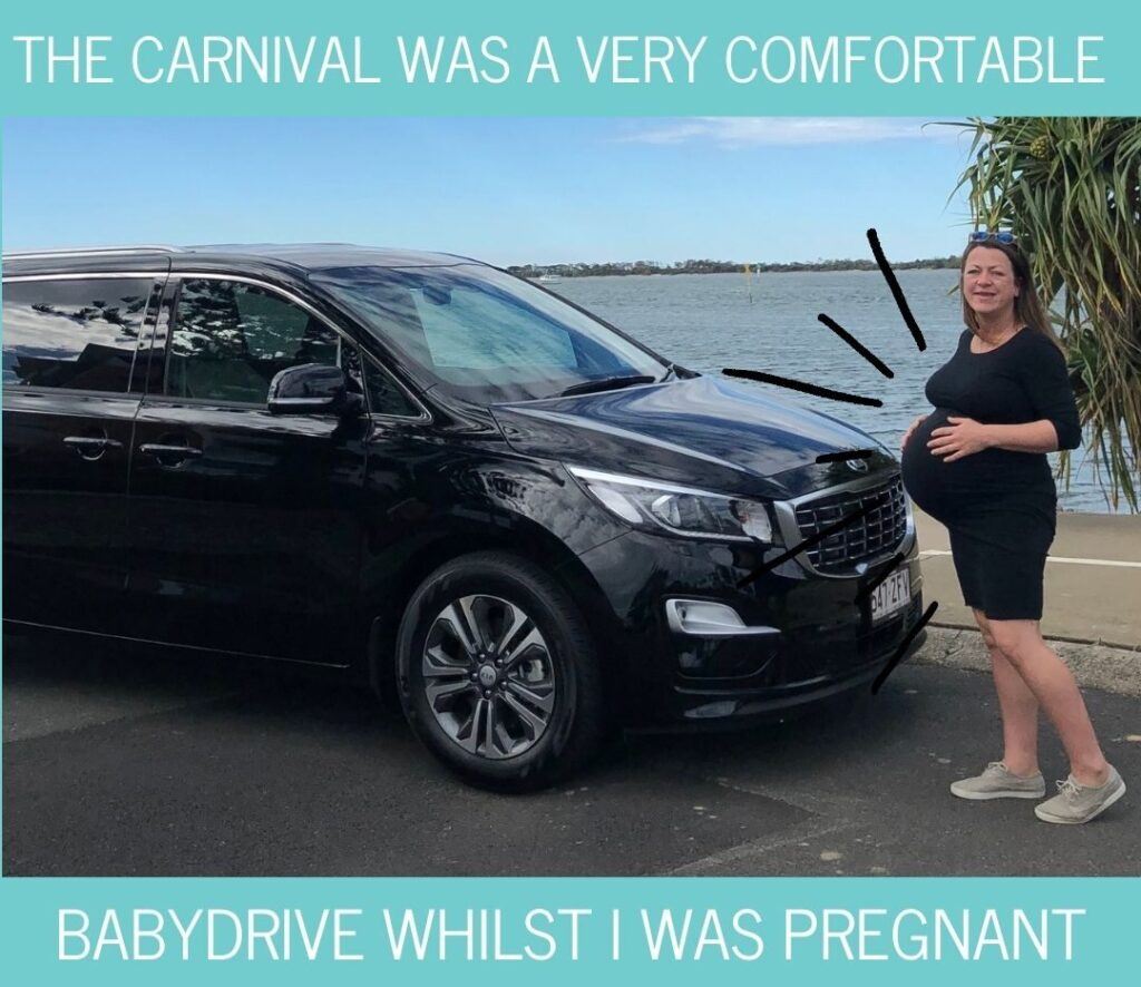Kia Carnival is comfortable to drive while pregnant