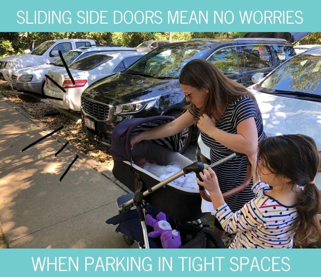 Kia Carnival sliding doors are convenient
