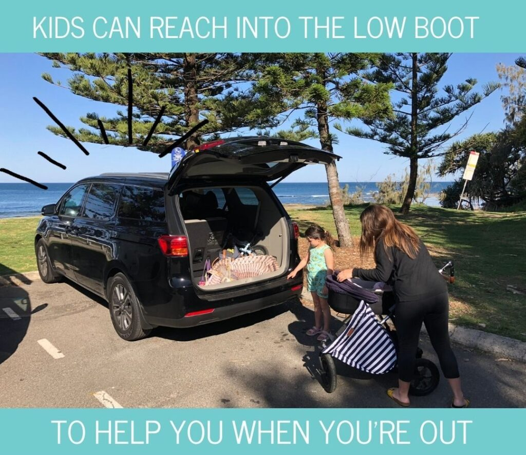 Kia Carnival boot space when using 7 seats