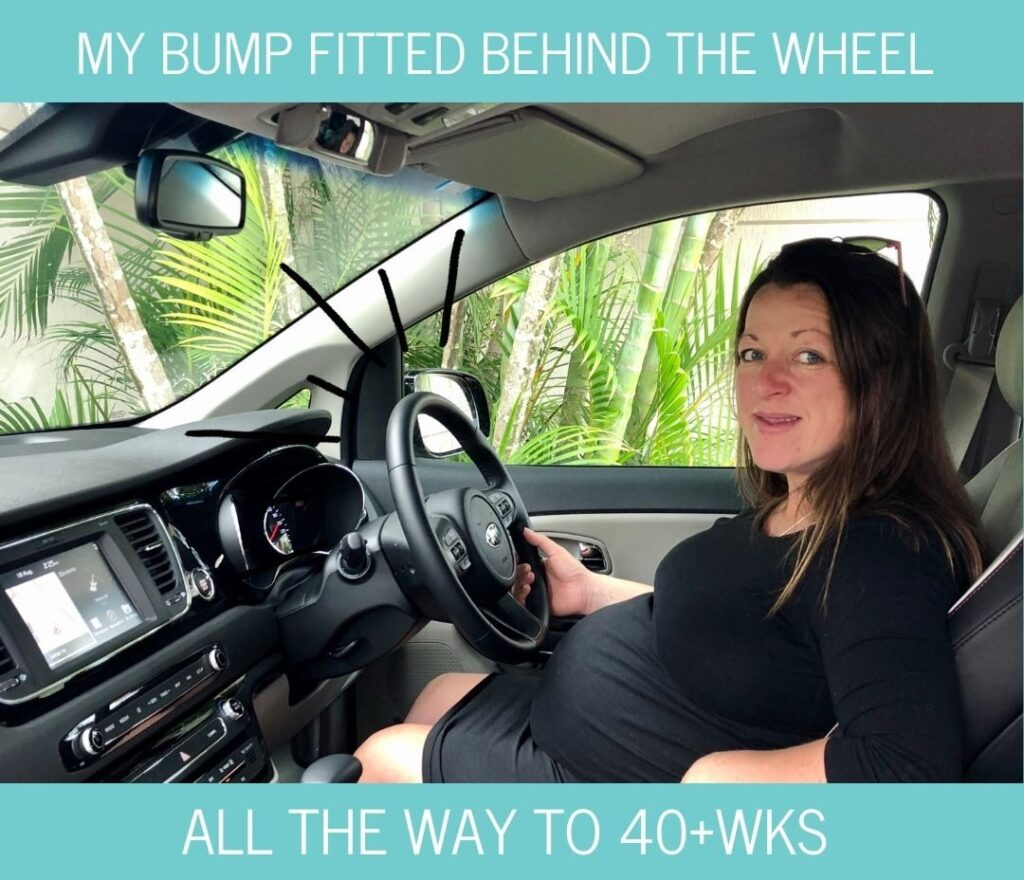 Kia Carnival is comfortable to drive while pregnant even at 40 weeks