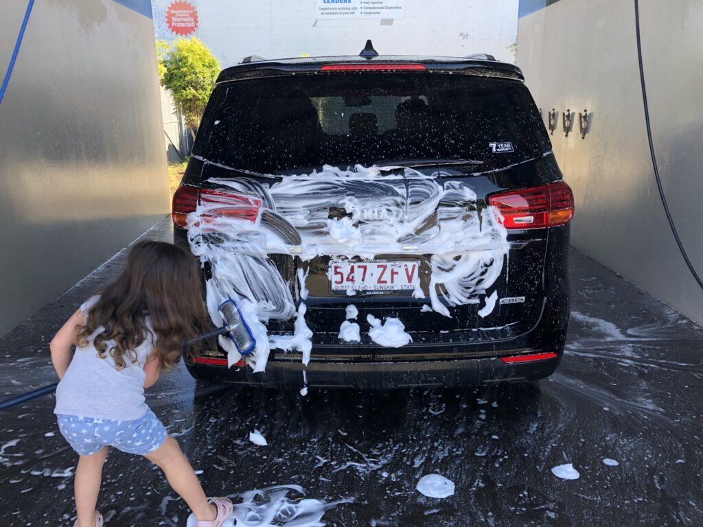 Washing the Kia Carnival