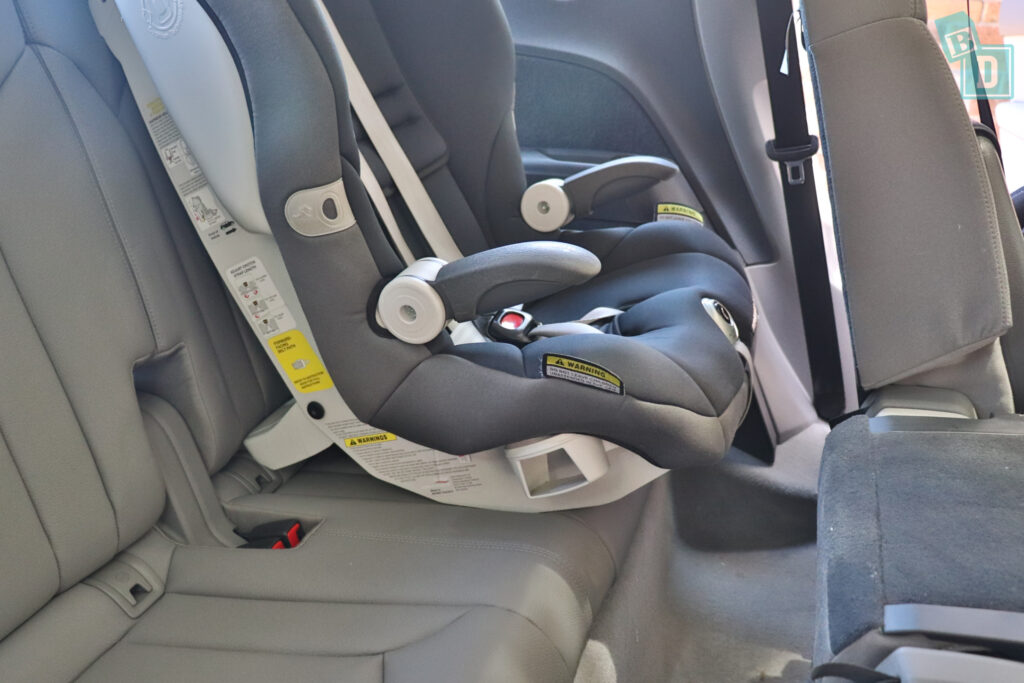 2021 Audi Q7 legroom with child seats in the third row