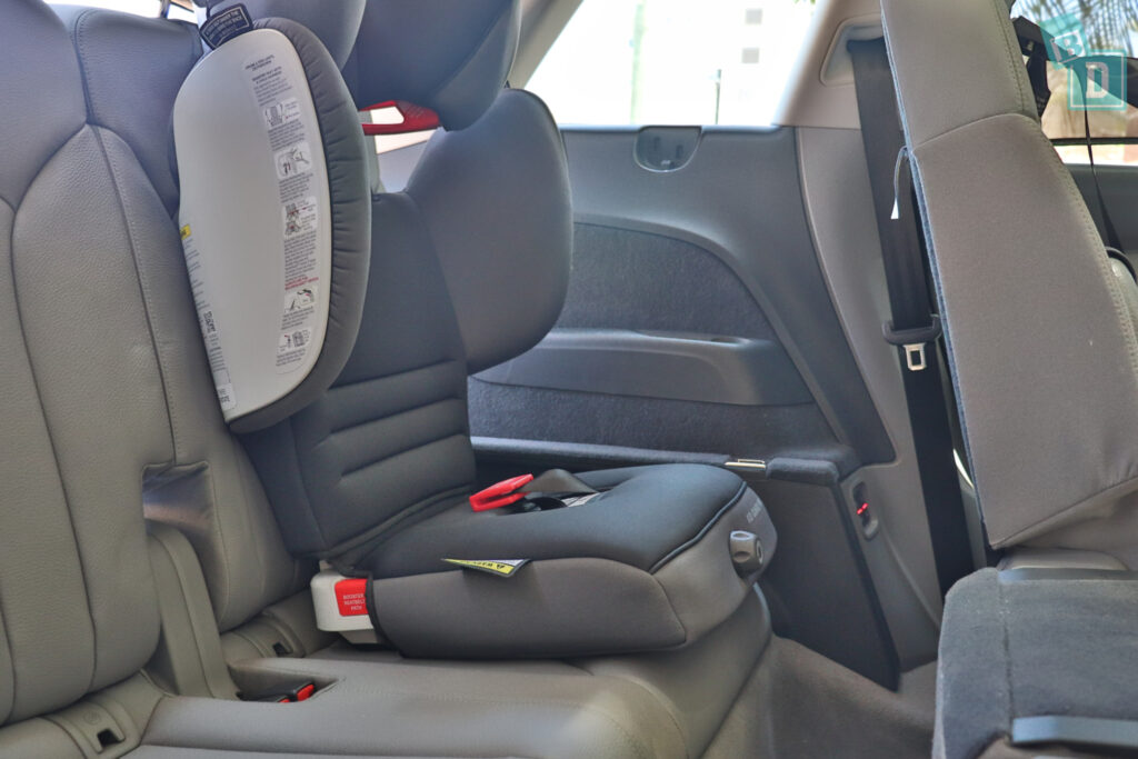 2021 Audi Q7 booster seat in third row
