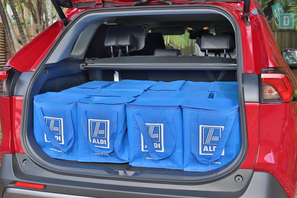 2021 Toyota RAV4 Hybrid Cruiser boot space with shopping