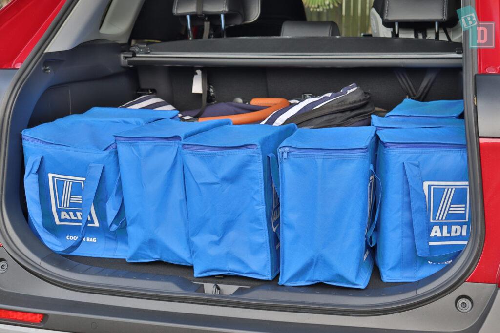 2021 Toyota RAV4 Hybrid Cruiser boot space with single stroller pram and shopping
