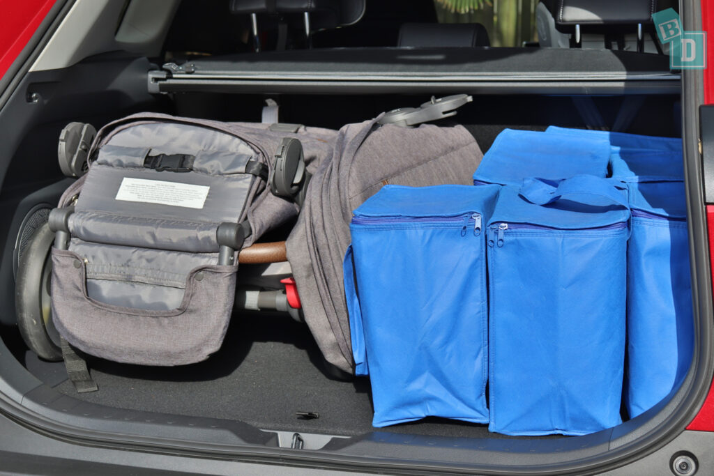 2021 Toyota RAV4 Hybrid Cruiser boot space with tandem stroller pram and shopping