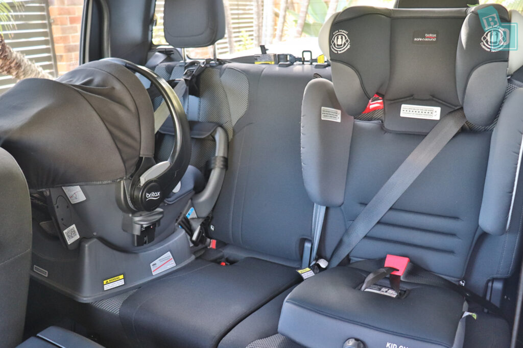 2021 Mazda BT-50 XT with two child seats installed