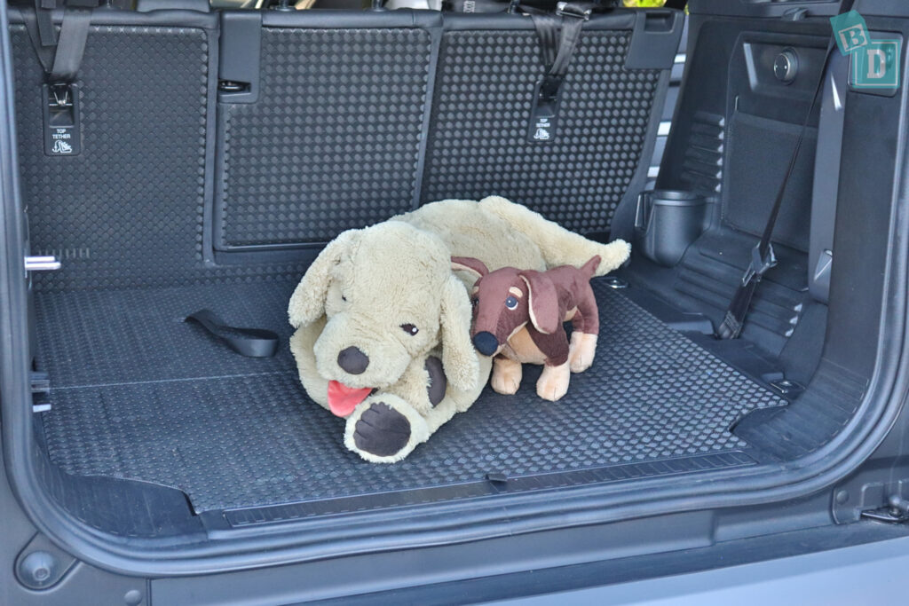 2021 Land Rover Defender 110 boot space for dogs when third row is not in use