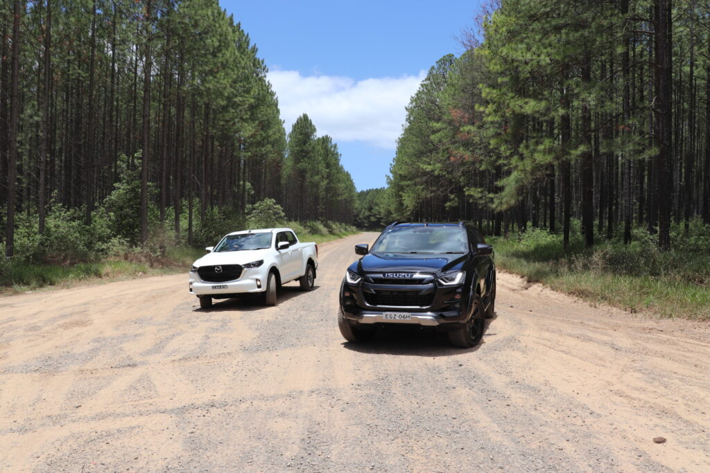 2021 Mazda BT-50 XT and 2021 Isuzu D-Max X-Terrain