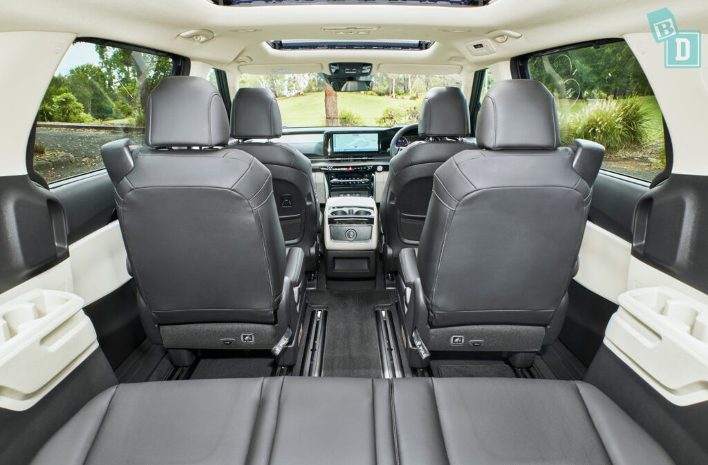 2021 Kia Carnival walk through with central seat removed